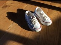 White size 5 converse All Star plimsoles