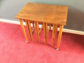 Vintage 1960s nest of coffee tables