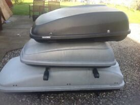 Car roof boxes for sale large, medium and medium to small