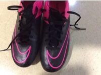 Football boots . U.K. Size 7 . Nike Mercurial. Metal studs