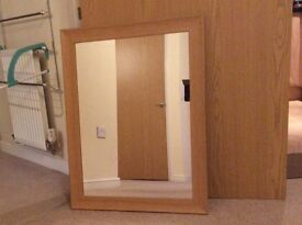 Wooden wall mirror in very good condition...URGENT!!