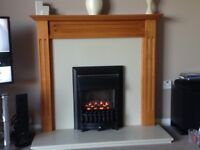 Gas Fire and surround including hearth