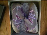 GEOX girls' grey/pink/lilac Junior Better trainers - UK 11 or EU 29