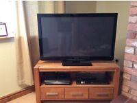 """Panasonic 42"""" TV plus oak TV table"""