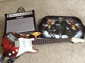 Paper Jamz guitar drum and amplipher