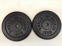4 x 15kg World of Health Standard Cast Iron Weights