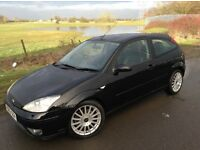 03 REG FORD FOCUS ST170 6 SPEED, LOW MILEAGE OF 86K, 12m MOT UNTIL FEB 2018, HPI CLEAR, 2 OWNERS