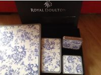 Royal Doulton placemats and coasters (boxed)