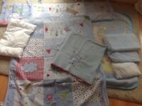 Cot/cotbed bedding bundle