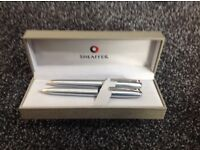 Sheaffer chrome pen set