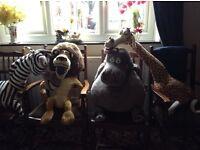 4 large Madagascar animals