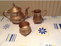 Full set of teapot, sugar bowl and milk jug