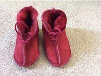 Sheepskin boots, 6-12 months, brand new
