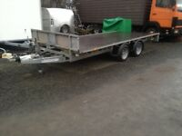 "Ifor Williams flat bed 2014 / 14 ft x6 ft 6ft 6"" no vat"