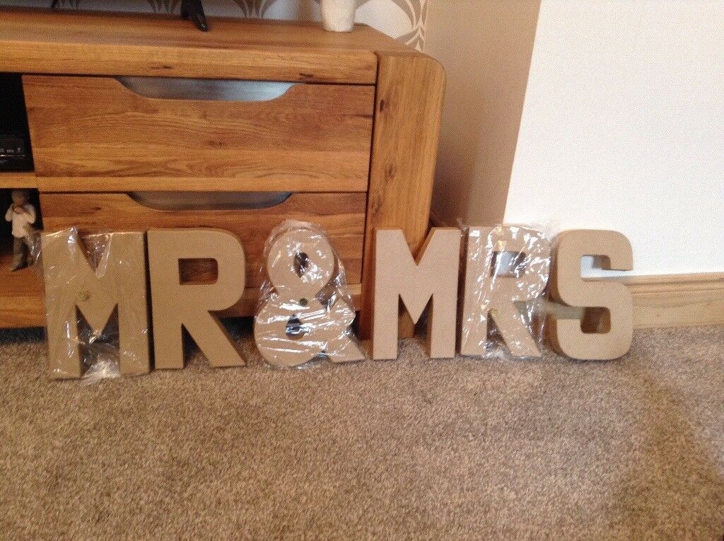 large cardboard letters mr and mrs