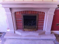 Fireplace, Limestone, Tudor Style