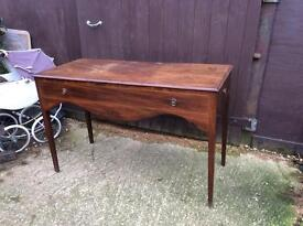 Vintage wooden washstand console hall table