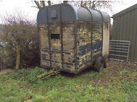 Livestock trailer in need of repairs