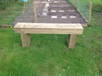 4ft 4inch treated timber garden bench
