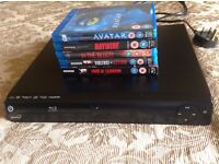 Maxtek Blu ray player 5 blu ray movies