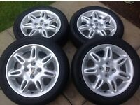 Rover 25 alloy wheels and tyres 185 55 15 200 400 mg zr zs