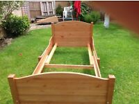 IKEA Children's Extendable Wooden Bed Frame & Mattress