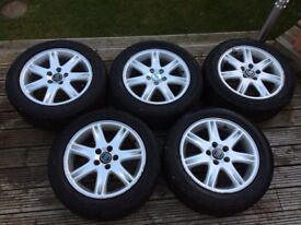 Volvo alloy wheels and tyres 5 off