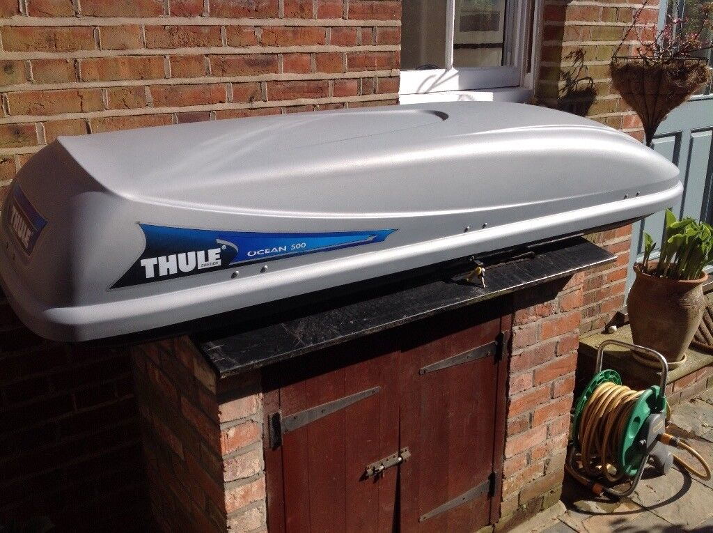 roof box thule ocean 500 and wing bars excellent condition in norwich norfolk gumtree. Black Bedroom Furniture Sets. Home Design Ideas