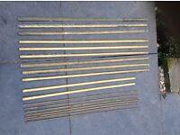 Stair / carpet rods, brass, antique 9 x 30 inch, 9 x 26 inch