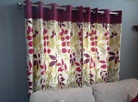 Dunelm lined Jakarta curtains