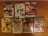 Xbox 360 job lot, guitar hero2 &3, kinect e, pes6, tiger woods page tour, lego Star Wars, forza 2