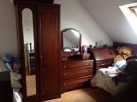 Rossmore Furniture Wardrobe,Vanity Drawer pack,Writing Desk,