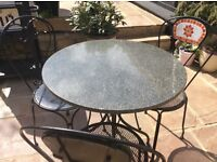 Granite bistro patio table & chairs