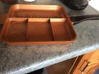 Quadrapan 4 in 1 copper pan
