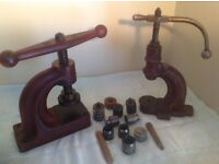 TWO BENCH BUTTON PRESSES MADE BY A.ORNSTIN LTD