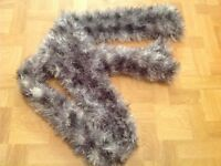 WOMEN'S GREY FLUFFY SCARF. EXCELLENT CONDITION.
