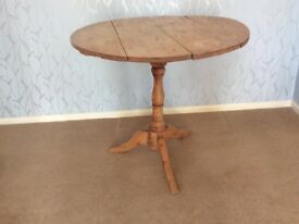 Pine table antique small folding