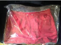 Brand New John Lewis Mens Designer lined swimming trunks(Shorts) in Dark Red, size 3XL.