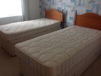 Pair of matching Silentnight single beds