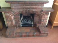 1950's fireplace and living flame gas fire.