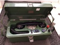 Collectors old telephone testing unit