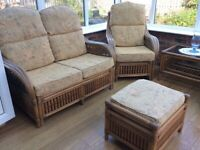 5 piece conservatory cane furniture set