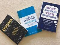 Puzzle paperback books x 3