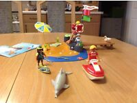 3664 Playmobil beach scene and lifeguard