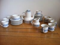 Beautiful Royal Doulton Cranbourne tea set , teapot,tea cups,milkjug ,saucers,plates,sugarbowl
