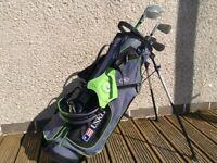 "US Kids 57"" Golf Clubs and Bag"