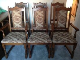 A Lovely Set of 6No Old Charm (wood bros) Dining Chairs