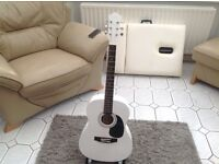 Accoustic guitar new in white