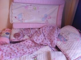 large bundle baby girls bedding