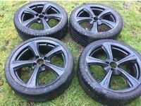"17"" Vauxhall Astra black alloys"